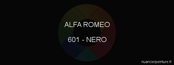 Peinture Alfa Romeo 601 Nero