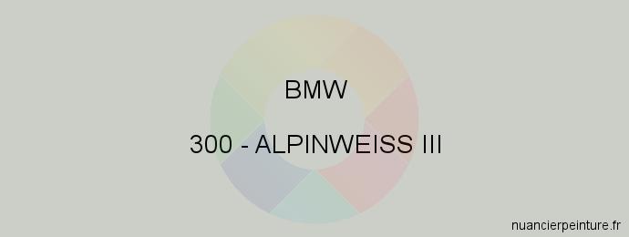 Peinture Bmw 300 Alpinweiss Iii
