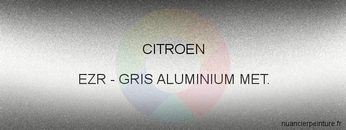 Peinture Citroen EZR Gris Aluminium Met.