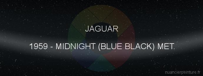 Peinture Jaguar 1959 Midnight (blue Black) Met.