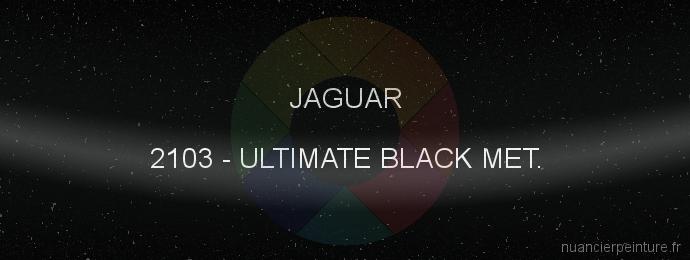 Peinture Jaguar 2103 Ultimate Black Met.