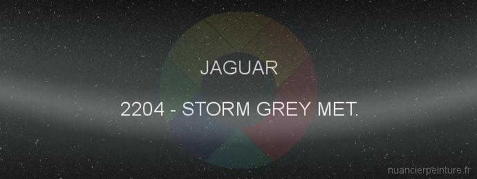 Peinture Jaguar 2204 Storm Grey Met.