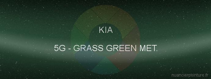 Peinture Kia 5G Grass Green Met.