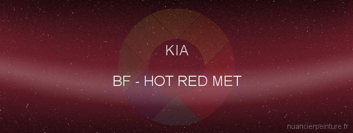 Peinture Kia BF Hot Red Met