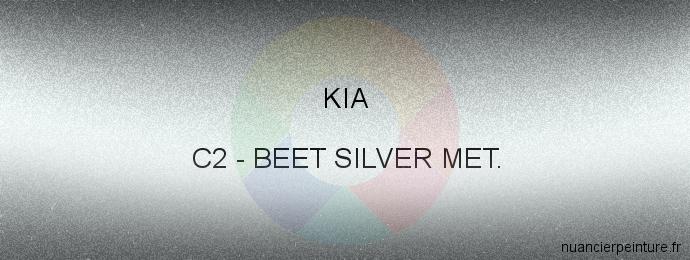 Peinture Kia C2 Beet Silver Met.