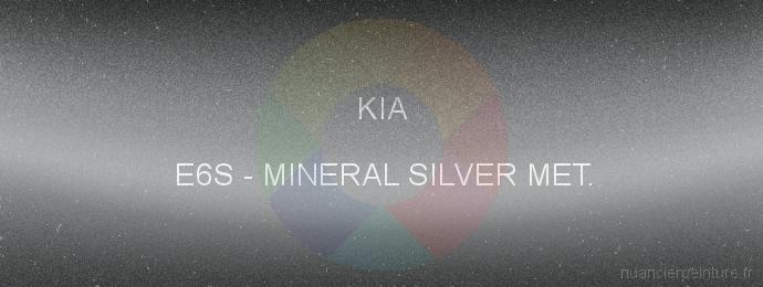 Peinture Kia E6S Mineral Silver Met.