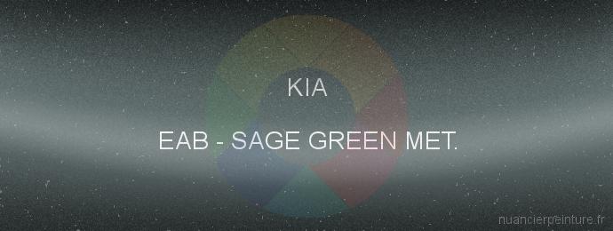 Peinture Kia EAB Sage Green Met.