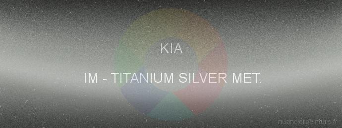 Peinture Kia IM Titanium Silver Met.