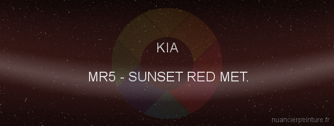 Peinture Kia MR5 Sunset Red Met.