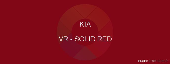 Peinture Kia VR Solid Red