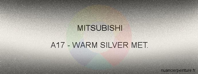 Peinture Mitsubishi A17 Warm Silver Met.