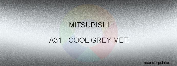 Peinture Mitsubishi A31 Cool Grey Met.