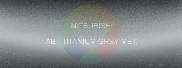 Peinture Mitsubishi AB Titanium Grey Met.