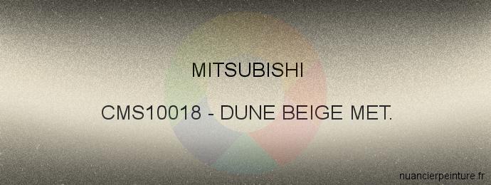 Peinture Mitsubishi CMS10018 Dune Beige Met.