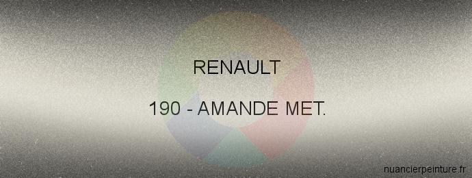 Peinture Renault 190 Amande Met.