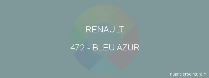 Peinture Renault 472 Bleu Azur