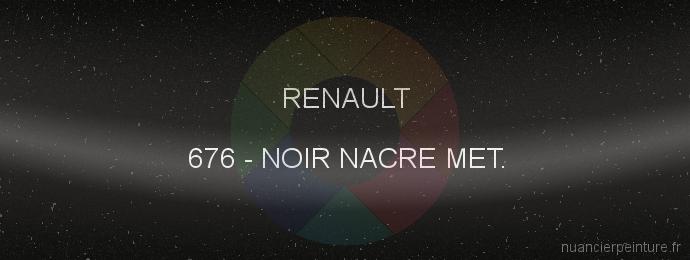 Peinture Renault 676 Noir Nacre Met.