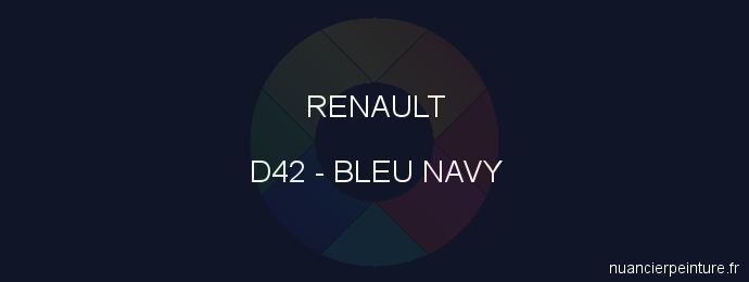 Peinture Renault D42 Bleu Navy