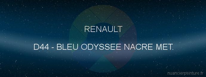 Peinture Renault D44 Bleu Odyssee Nacre Met.