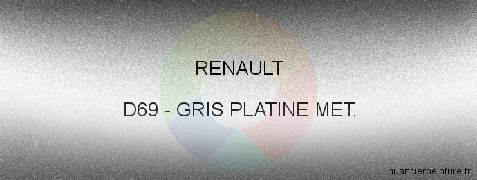 Peinture Renault D69 Gris Platine Met.