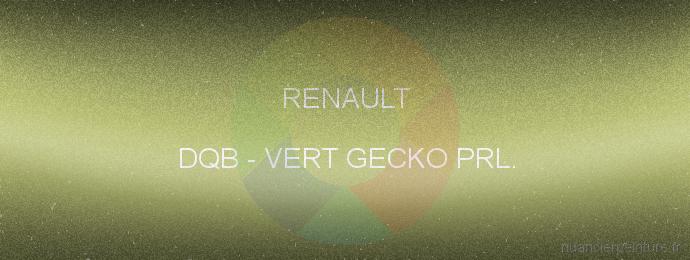 Peinture Renault DQB Vert Gecko Prl.