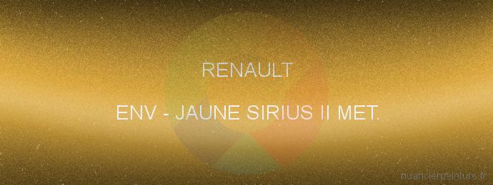 Peinture Renault ENV Jaune Sirius Ii Met.
