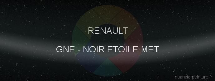 Peinture Renault GNE Noir Etoile Met.