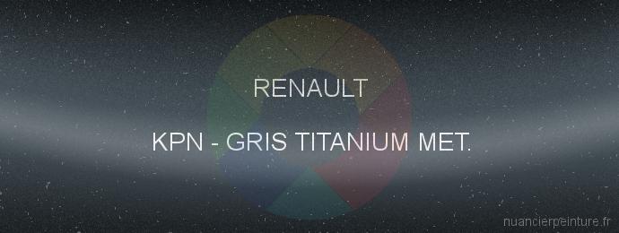 Peinture Renault KPN Gris Titanium Met.