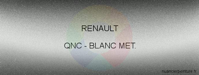 Peinture Renault QNC Blanc Met.