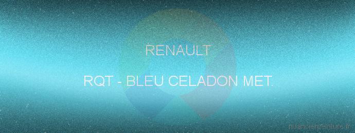 Peinture Renault RQT Bleu Celadon Met.