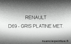 Peinture Renault D69 Gris Platine