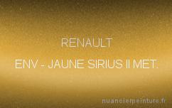 Peinture Jaune Sirius Renault