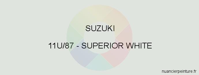Peinture Suzuki 11U/87 Superior White