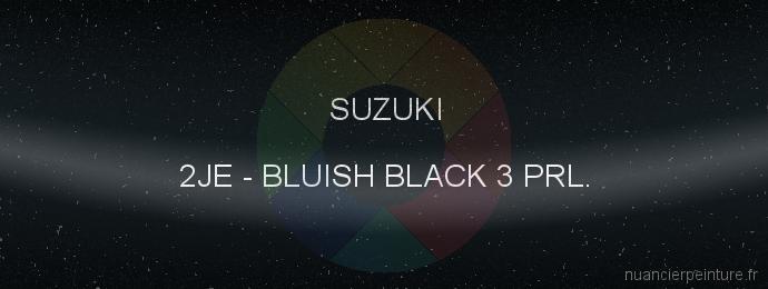 Peinture Suzuki 2JE Bluish Black 3 Prl.