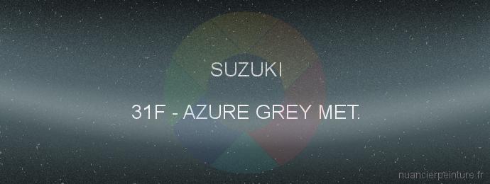 Peinture Suzuki 31F Azure Grey Met.