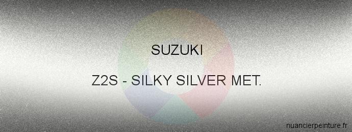 Peinture Suzuki Z2S Silky Silver Met.