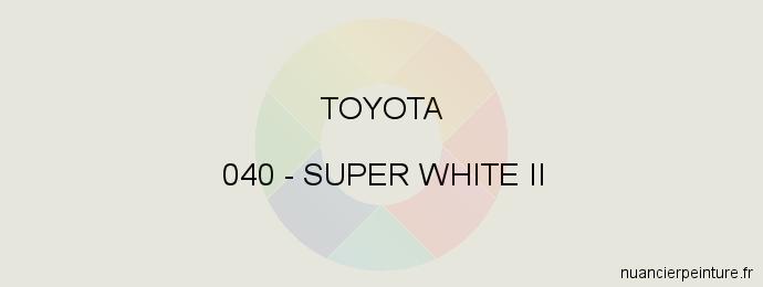 Peinture Toyota 040 Super White Ii
