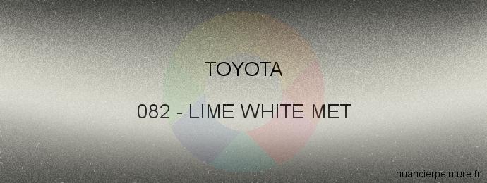Peinture Toyota 082 Lime White Met