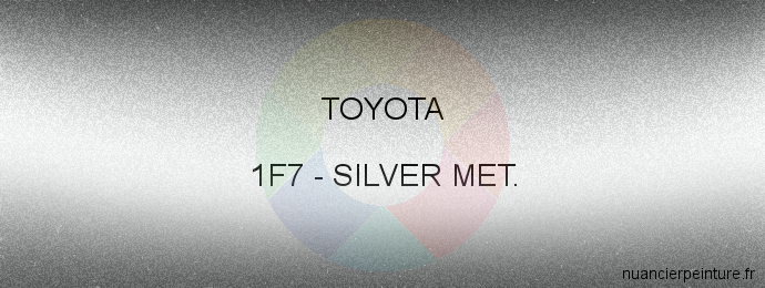 Peinture Toyota 1F7 Silver Met.