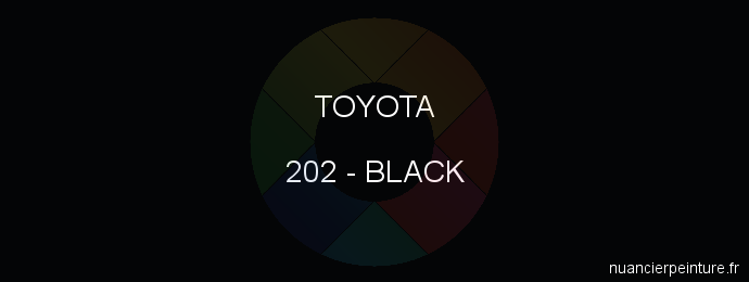 Peinture Toyota 202 Black