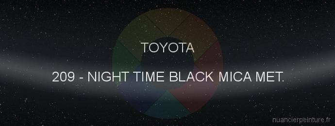 Peinture Toyota 209 Night Time Black Mica Met.