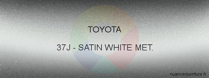 Peinture Toyota 37J Satin White Met.
