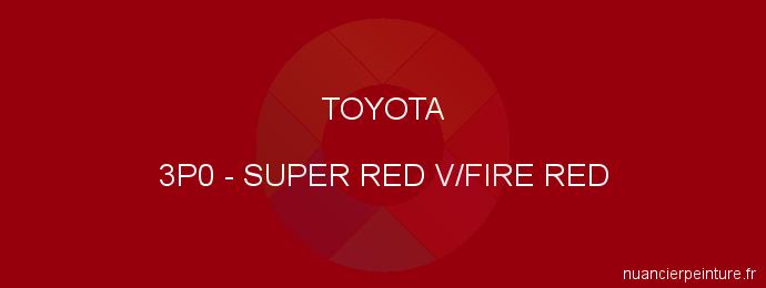 Peinture Toyota 3P0 Super Red V/fire Red