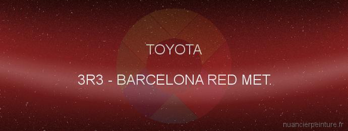 Peinture Toyota 3R3 Barcelona Red Met.