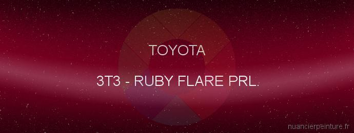Peinture Toyota 3T3 Ruby Flare Prl.
