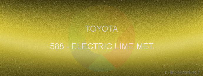 Peinture Toyota 588 Electric Lime Met.