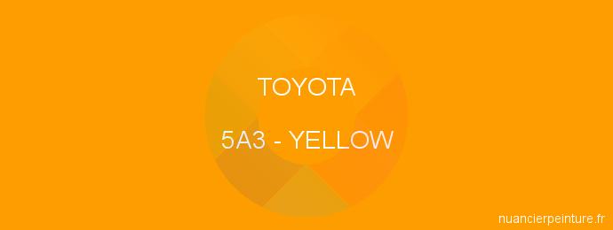 Peinture Toyota 5A3 Yellow