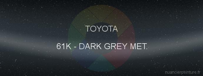 Peinture Toyota 61K Dark Grey Met.