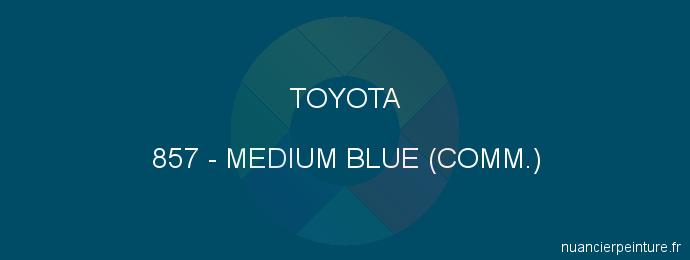 Peinture Toyota 857 Medium Blue (comm.)