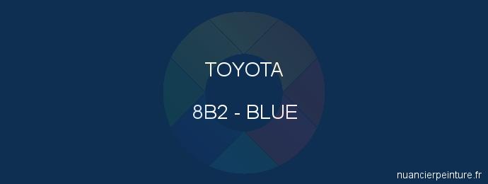 Peinture Toyota 8B2 Blue